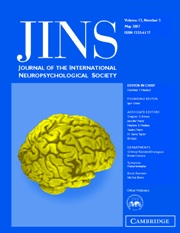 Journal of the International Neuropsychological Society Volume 13 - Issue 3 -