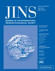 Journal of the International Neuropsychological Society Volume 14 - Issue 2 -