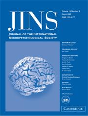 Journal of the International Neuropsychological Society Volume 15 - Issue 2 -