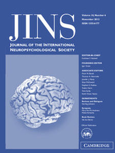 Journal of the International Neuropsychological Society Volume 18 - Issue 6 -