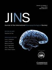 Journal of the International Neuropsychological Society Volume 21 - Issue 7 -