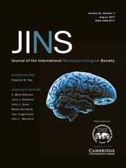 Journal of the International Neuropsychological Society Volume 23 - Issue 7 -
