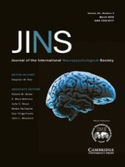 Journal of the International Neuropsychological Society Volume 24 - Issue 3 -