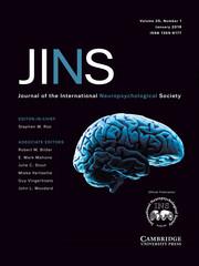Journal of the International Neuropsychological Society Volume 25 - Issue 1 -
