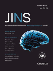 Journal of the International Neuropsychological Society Volume 25 - Issue 4 -