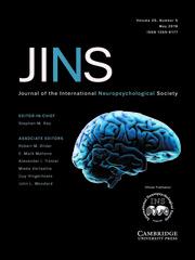 Journal of the International Neuropsychological Society Volume 25 - Issue 5 -