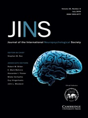 Journal of the International Neuropsychological Society Volume 25 - Issue 6 -