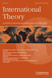 International Theory Volume 11 - Issue 1 -