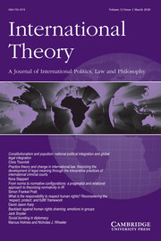 International Theory Volume 12 - Issue 1 -