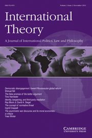 International Theory Volume 3 - Issue 3 -