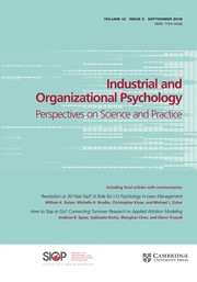Industrial and Organizational Psychology Volume 12 - Issue 3 -