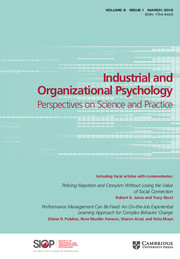 Industrial and Organizational Psychology Volume 8 - Issue 1 -