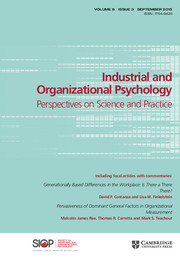 Industrial and Organizational Psychology Volume 8 - Issue 3 -