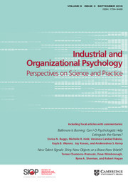 Industrial and Organizational Psychology Volume 9 - Issue 3 -