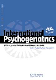 International Psychogeriatrics Volume 16 - Issue 1 -