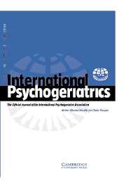 International Psychogeriatrics Volume 16 - Issue 2 -
