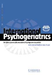International Psychogeriatrics Volume 18 - Issue 1 -