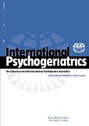 International Psychogeriatrics Volume 18 - Issue 4 -