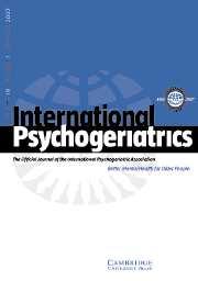 International Psychogeriatrics Volume 19 - Issue 1 -