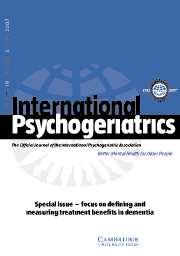 International Psychogeriatrics Volume 19 - Issue 3 -
