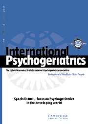 International Psychogeriatrics Volume 19 - Issue 4 -