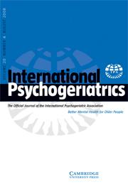 International Psychogeriatrics Volume 20 - Issue 4 -