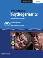 International Psychogeriatrics Volume 21 - Issue 3 -