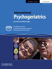 International Psychogeriatrics Volume 21 - Issue 5 -