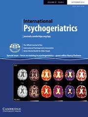 International Psychogeriatrics Volume 22 - Special Issue6 -  Focus on training in psychogeriatrics