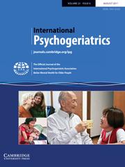 International Psychogeriatrics Volume 23 - Issue 6 -