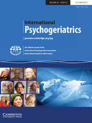 International Psychogeriatrics Volume 24 - Issue 10 -