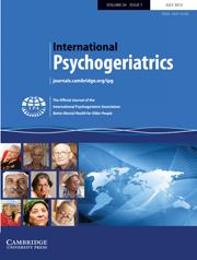 International Psychogeriatrics Volume 24 - Issue 7 -