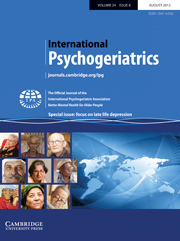 International Psychogeriatrics Volume 24 - Special Issue8 -  Focus on late life depression