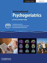 International Psychogeriatrics Volume 25 - Issue 3 -