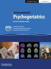 International Psychogeriatrics Volume 25 - Issue 9 -
