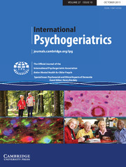 International Psychogeriatrics Volume 27 - Issue 10 -  Psychosocial and Ethical Aspects of Dementia