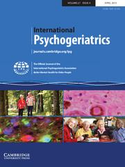 International Psychogeriatrics Volume 27 - Issue 4 -