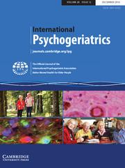 International Psychogeriatrics Volume 28 - Issue 12 -