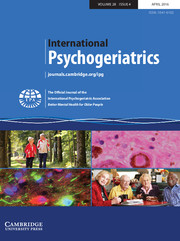 International Psychogeriatrics Volume 28 - Issue 4 -