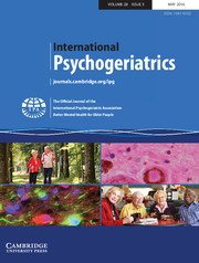 International Psychogeriatrics Volume 28 - Issue 5 -