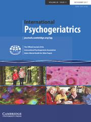 International Psychogeriatrics Volume 29 - Issue 11 -