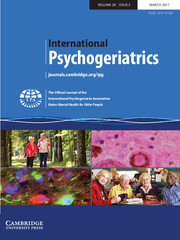 International Psychogeriatrics Volume 29 - Issue 3 -