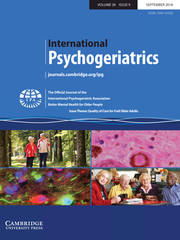 International Psychogeriatrics Volume 30 - Issue 9 -  Issue Theme: Quality of Care for Frail Older Adults