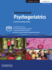 International Psychogeriatrics Volume 31 - Issue 11 -  Issue Theme: Psychiatric Morbidity in Exceptionally Old People