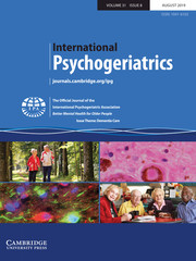 International Psychogeriatrics Volume 31 - Issue 8 -  Issue Theme: Dementia Care