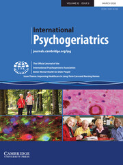 International Psychogeriatrics Volume 32 - Issue 3 -  Issue Theme: Improving Healthcare in Long-Term Care and Nursing Homes