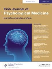 Irish Journal of Psychological Medicine Volume 30 - Issue 1 -