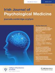 Irish Journal of Psychological Medicine Volume 34 - Issue 1 -