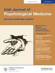 Irish Journal of Psychological Medicine Volume 34 - Special Issue4 -  Special Issue on Coercion