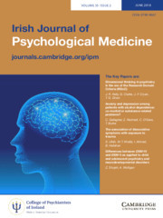 Irish Journal of Psychological Medicine Volume 35 - Issue 2 -